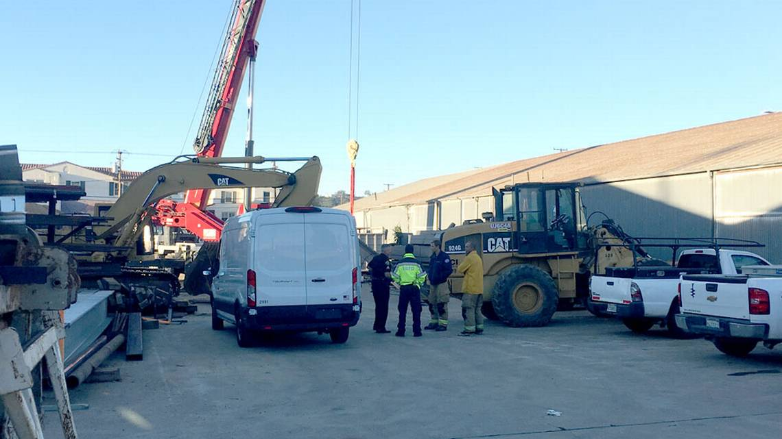 Man crushed to death by steel beam at Santa Barbara construction yard